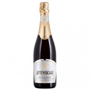 Champagne Artyomovsk, white semi-sweet