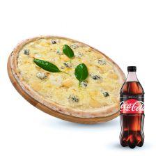 Четыре сыра + Coca-cola Zero 1 л 1 шт.