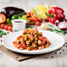 Салат из баклажанов в соево-имбирном соусе