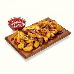 Selyanski potatoes with bacon