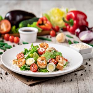 Caesar with shrimps