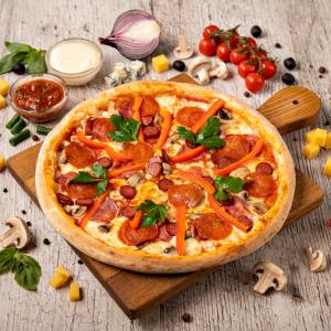 Bavarian pizza