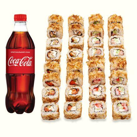 Сет Роллов в стружке тунца + Кока-кола 1л (1шт)