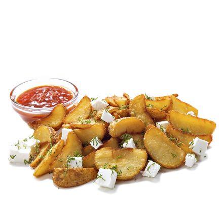 Картофель по-селянски с брынзой