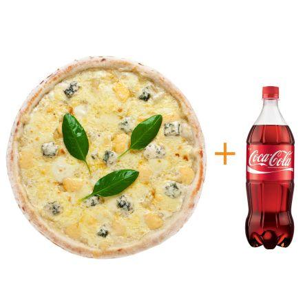 Четыре сыра + Coca-cola 1 л