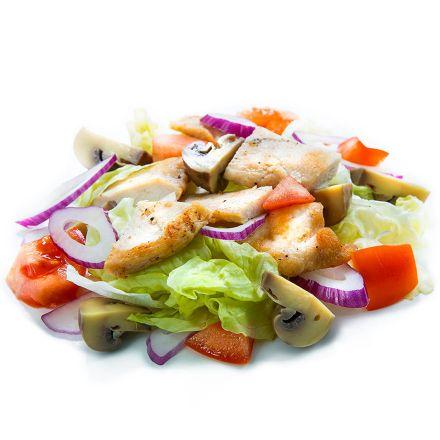 Салат куриный с грибами