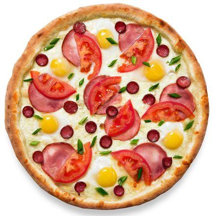 Пицца с перепелиными яйцами