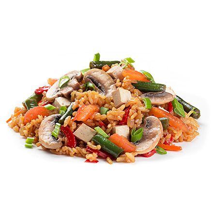 Тайський рис з овочами і тофу