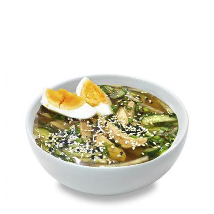 Корейский холодный суп с курицей