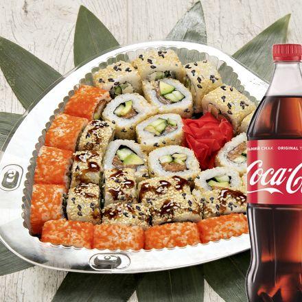 Сет Калифорния праздничный + Coca-Cola   1 л 1 шт.
