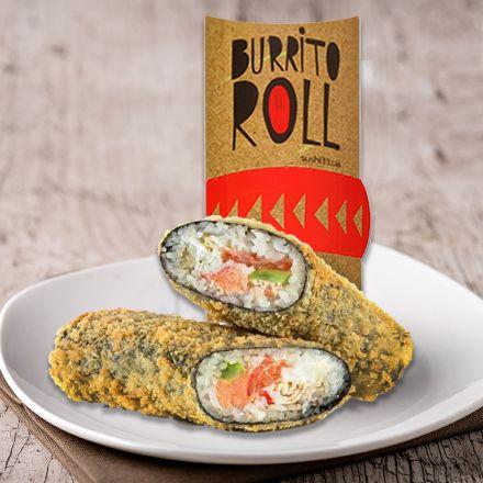 Буррито-ролл горячий с лососем