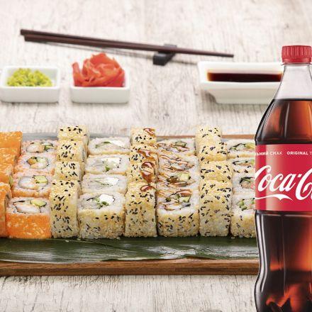 Сет Калифорния + Coca-Cola  1 л 1 шт.