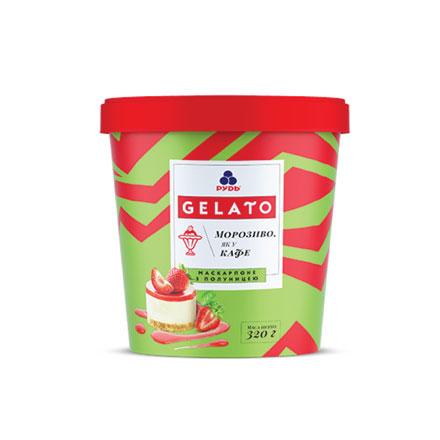 Морозиво Маскарпоне з полуницею