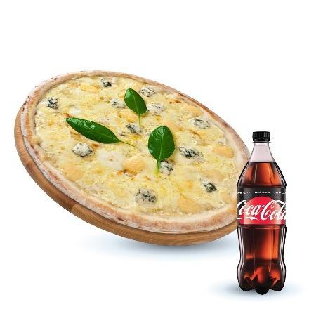 Four Cheese + Coca-cola Zero 1 L