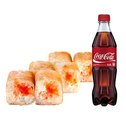 Харумаки Сяке+ Coca-cola