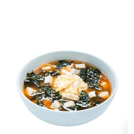 Суп гострий з водоростями вакаме