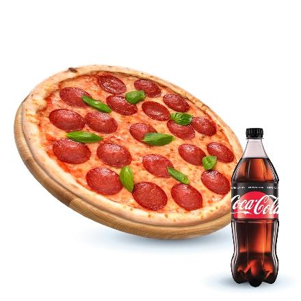 Пеперони + Coca-cola Zero 1 л 1 шт.