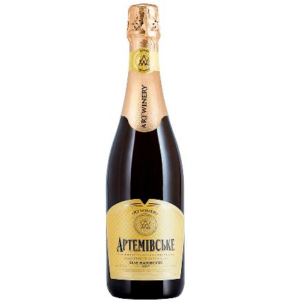 Champagne Artyomovsk white semi-dry