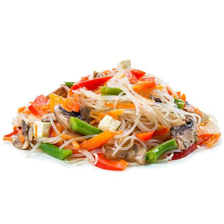Лапша крохмальная с овощами