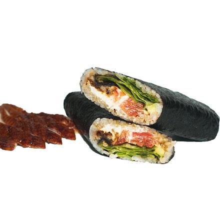 Burrito with eel