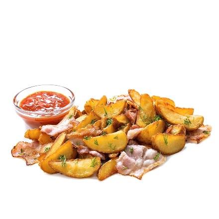 Картофель по-селянски с беконом