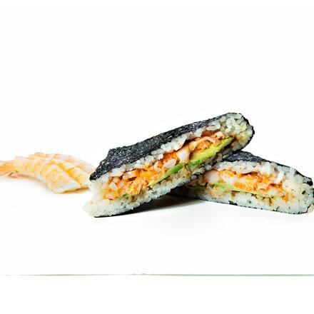 Sushi-sandwich with shrimp