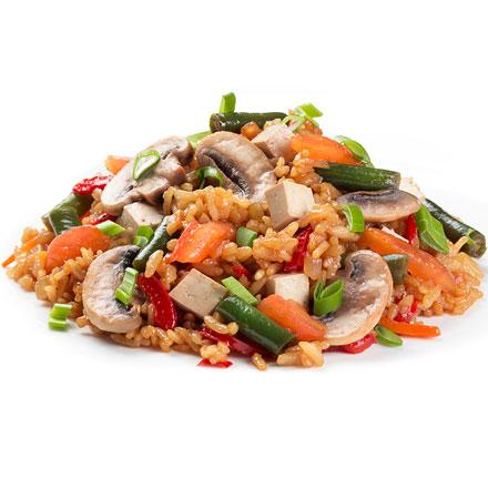Рис з овочами та тофу