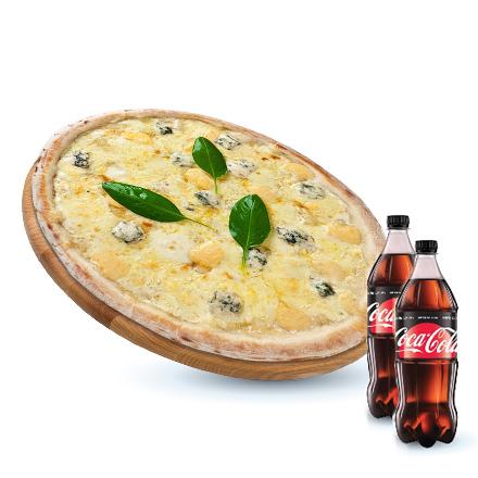 Four Cheese + Coca-cola Zero 0.5 L 2 b.