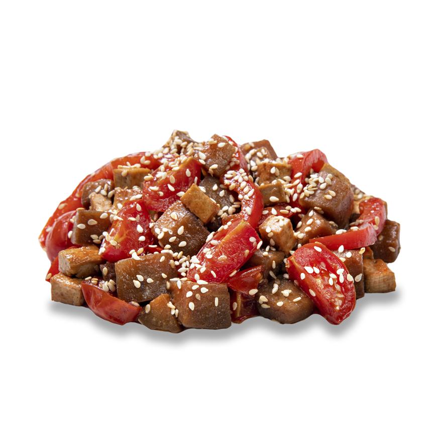 Салат з баклажанів в соево-імбирному соусі