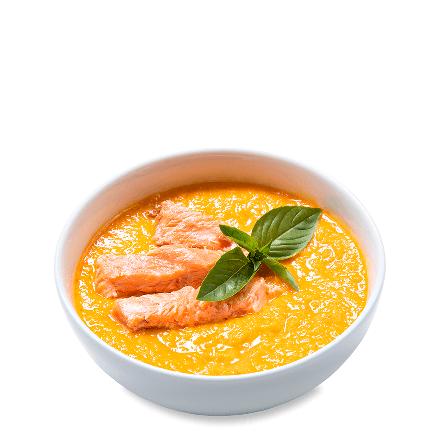 Тыквенный крем-суп с лососем
