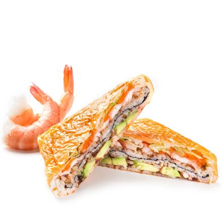 Суши-сендвич с креветкой
